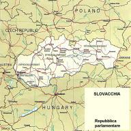 Cartina politica della Slovacchia