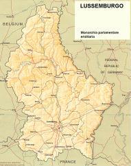 Cartina politica del Lussemburgo