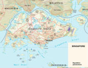 Cartina politica di Singapore