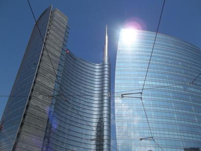Foto di Milano (nei pressi della Torre Unicredit)