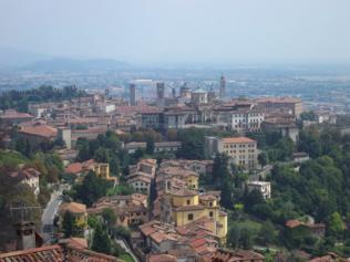 Foto di Bergamo (veduta dall'alto del Castello di San Vigilio)
