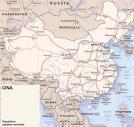 Cartina politica della Cina