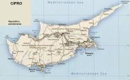 Cartina politica di Cipro