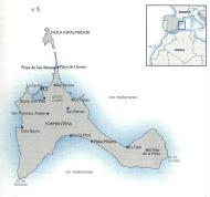 Cartina geografica di Formentera