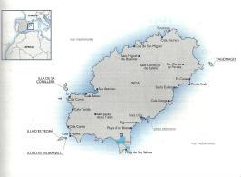 Cartina geografica di Ibiza