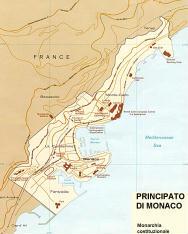 Cartina politica del Principato di Monaco