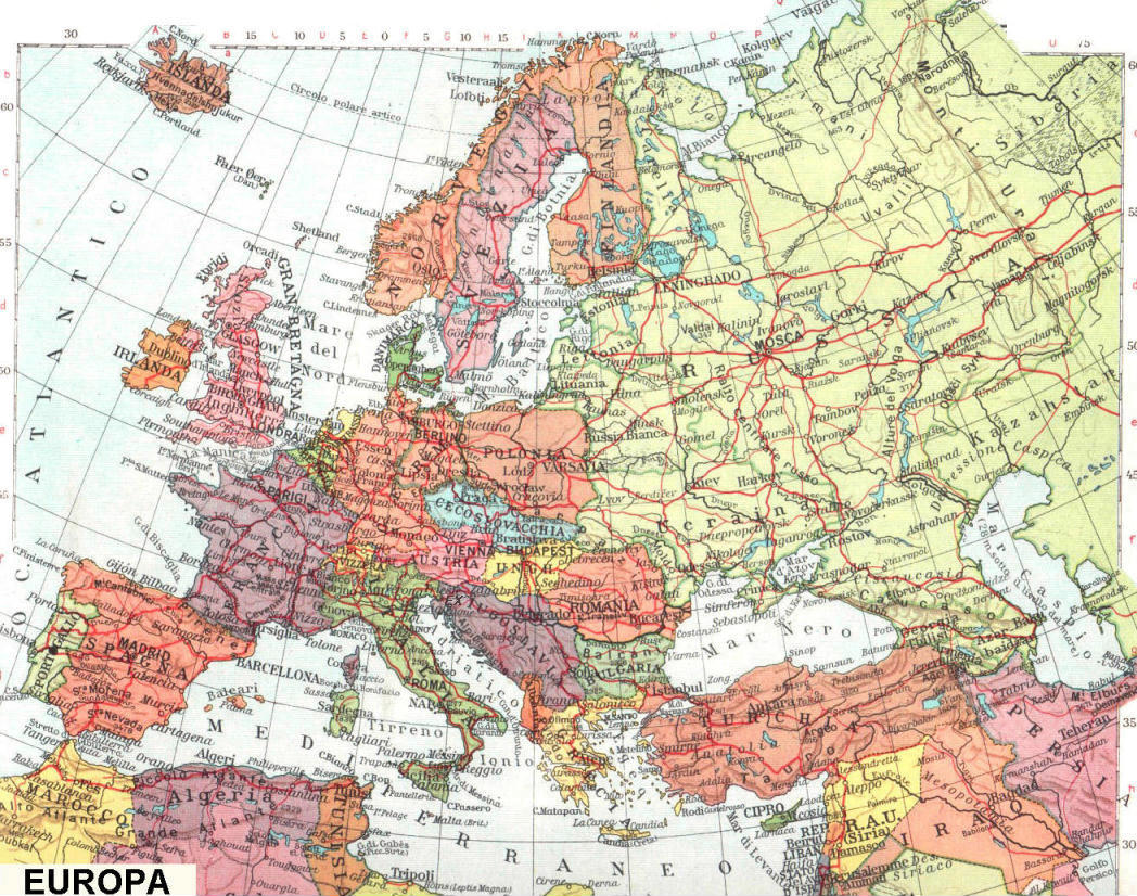 Cartina Dell Europa Fisica.Cartine Geografiche Politiche Dell Europa
