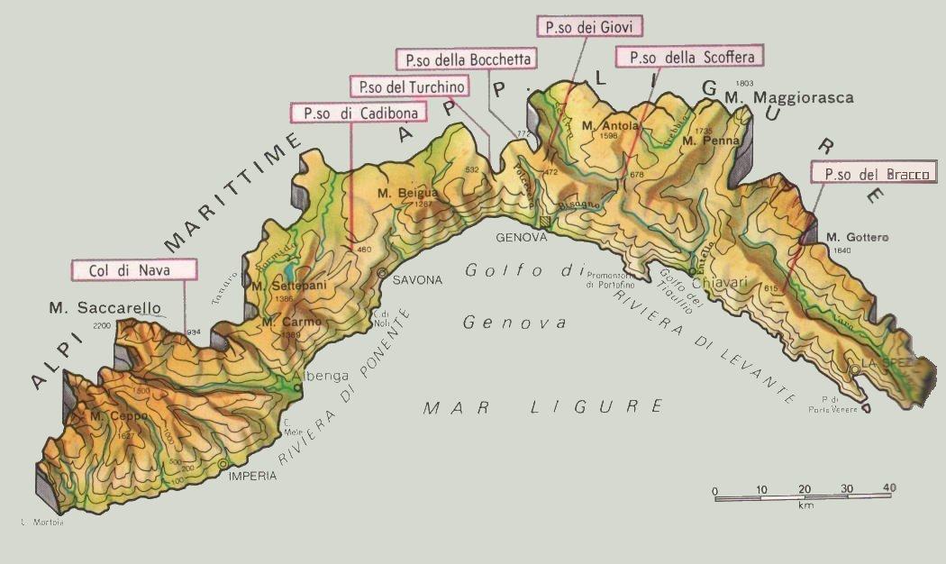 Cartina Della Liguria Politica.Cartine Geografiche Della Liguria Italia