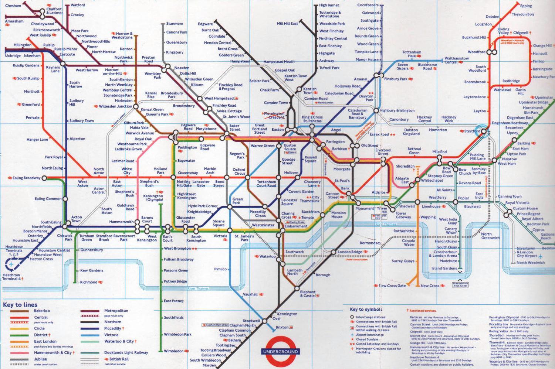 Metropolitana Di Londra Cartina.Metropolitana Di Londra Inghilterra Mappa Di Tutte Le Stazioni Della Metropolitana