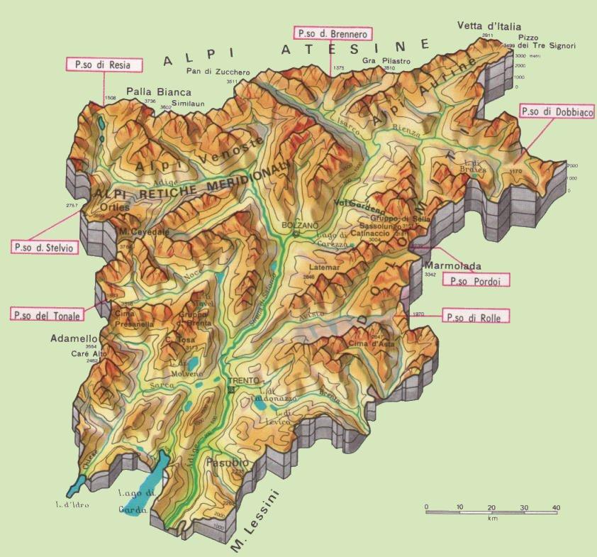 Cartina Del Trentino Alto Adige Politica.Cartine Geografiche Del Trentino Alto Adige Italia