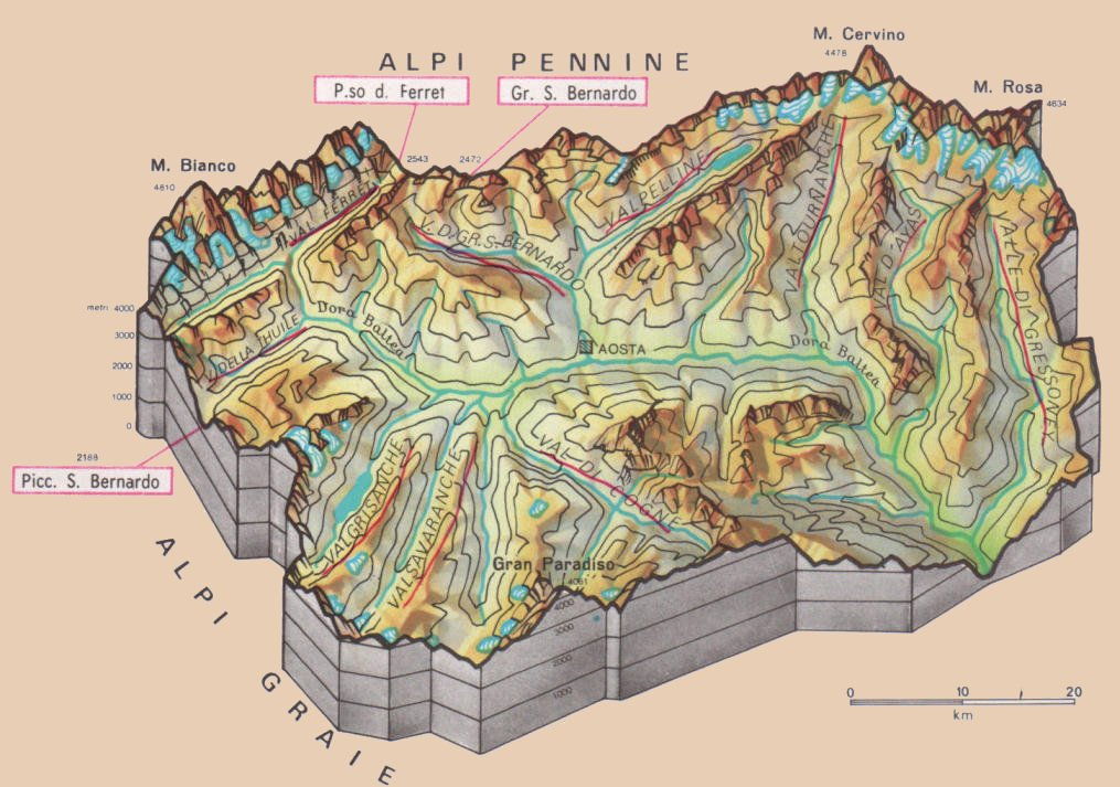 Cartina Fisico Politica Valle D Aosta.La Geografia Valle D Aosta A Tutto Tondo