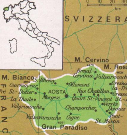 Cartina Politica Della Valle D Aosta.Cartine Geografiche Della Valle D Aosta Italia
