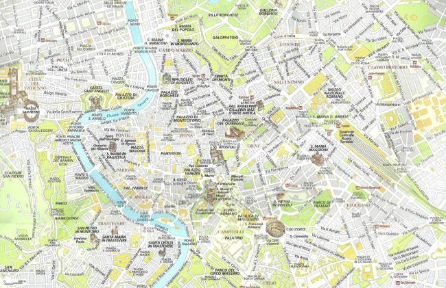 Roma Centro Cartina.Roma Cartina