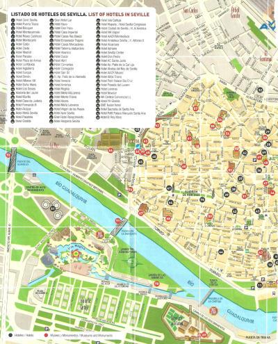 Siviglia Cartina.Mappa Del Centro Di Siviglia Spagna