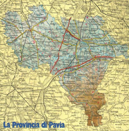 Cartina Autostradale Della Lombardia.Cartina Geografica Della Provincia Di Pavia Lombardia Italia