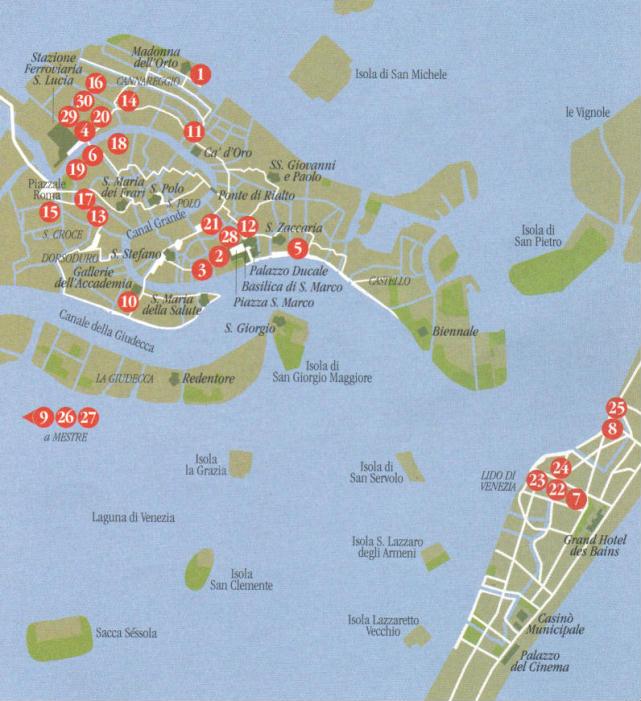 Cartina Centro Venezia.Mappa Del Centro E Della Laguna Di Venezia Veneto Italia