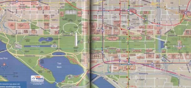 Cartina Washington.Mappa Del Centro Di Washington U S A