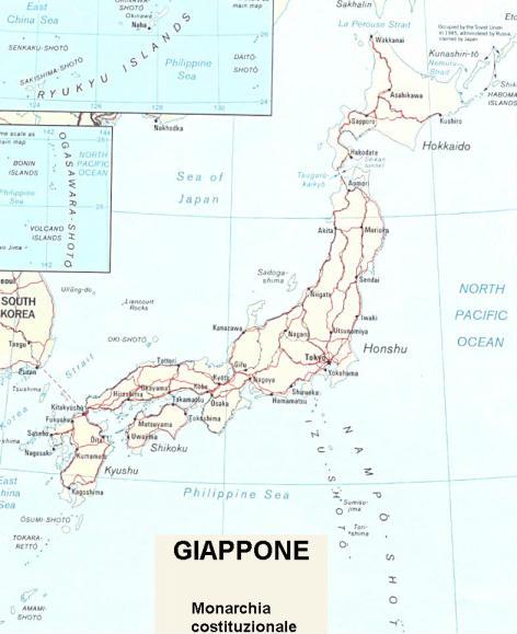Il Giappone Cartina Fisica.Cartina Geografica Politica Del Giappone