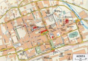Mappa del centro di Aosta