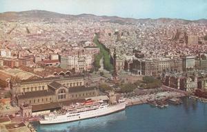 Vecchia veduta di Barcellona