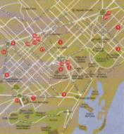 Mappa del centro di Barcellona
