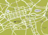Mappa del centro di Edimburgo