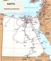 Cartina politica dell'Egitto