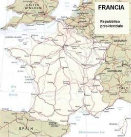 Cartina politica della Francia