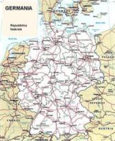 Cartina politica della Germania