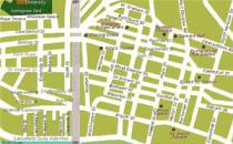Mappa del centro di Glasgow