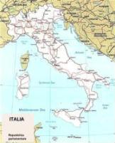 Cartina politica dell'Italia