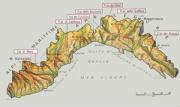 Cartine geografiche della Liguria