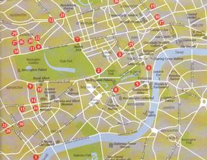 Mappa del centro di Londra