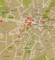 Mappa del centro di Monaco di Baviera