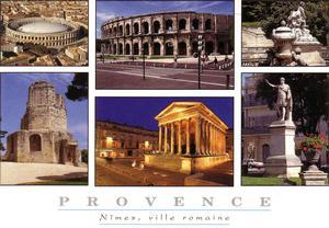 Cartolina illustrativa di Nimes & la Provenza
