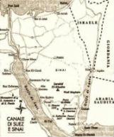 Cartina della Penisola del Sinai