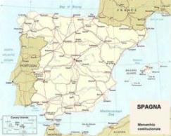 Cartina politica della Spagna