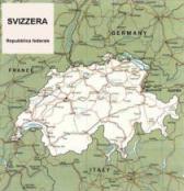 Cartina politica della Svizzera