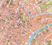 Mappa più ingrandita del centro di Torino