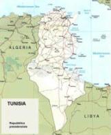 Cartina politica della Tunisia