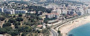 Illustrazione panoramica di Calella