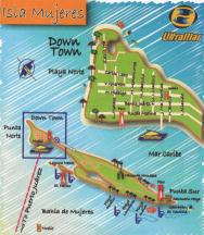 Mappa di Isla Mujeres