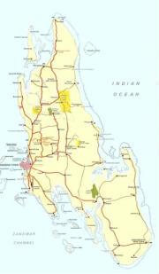 Cartina geografica di Zanzibar