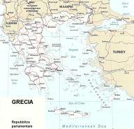 Cartina politica della Grecia