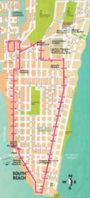 Mappa del centro di Miami Beach