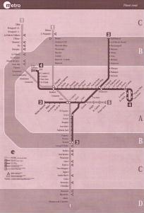 Mappa della metropolitana di Valencia
