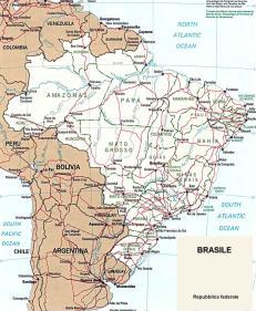 Cartina politica del Brasile