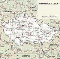 Cartina politica della Repubblica Ceca
