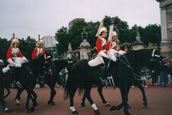 Foto di Londra (guardie a cavallo)