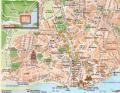 Mappa del centro di Lisbona